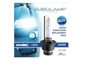 D2S Eurolamp 6000k Replacement HID Bulb (pair)-0