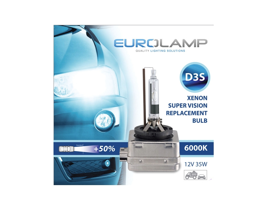 D3S Eurolamp 6000k Replacement HID Bulb (pair)