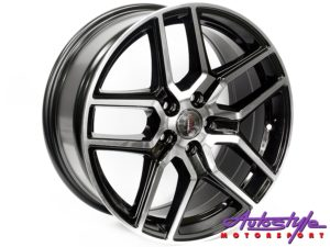 "18"" A-Line Chicane 5/112 BKMF Alloy Wheels-0"
