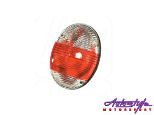 VW Classic Beetle Rear Light Unit New Beetle Look with Clear and Red Lens (pair)-0