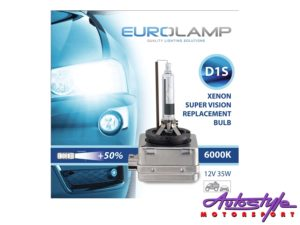 D1S Eurolamp 6000k Replacement HID Bulb (pair)-0
