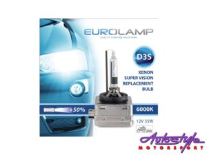 D3S Eurolamp 6000k Replacement HID Bulb (pair)-0