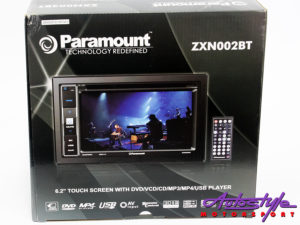 Paramound ZXN002 Double Din DVD with Bluetooth & USB-0
