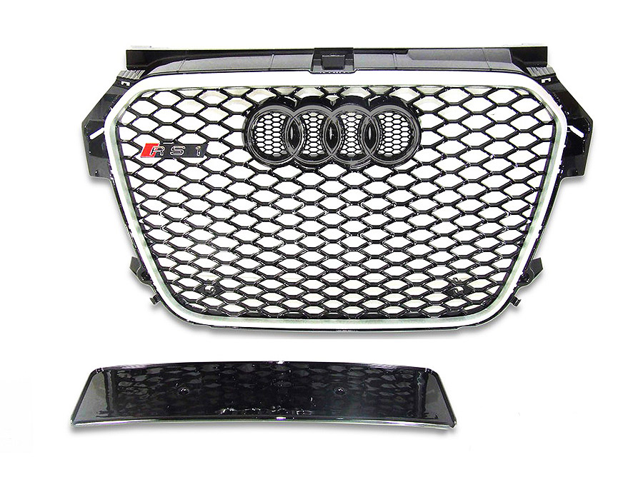 Audi A1 13+ RS Style Gloss Black & Chrome Grill