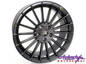 "19"" QS Hamann 5/112 Matt Black Alloy Wheels-0"