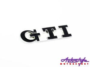 Gti Black & Chrome Sticker Badge-0