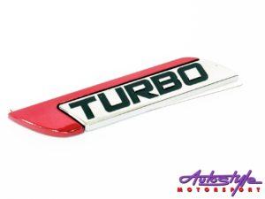 Turbo Chrome Sticker Badge-0