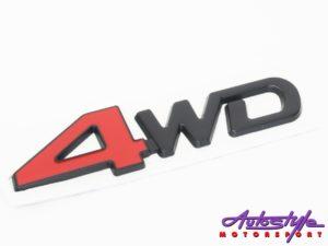 4 Wheel Drive Sticker Badge-0