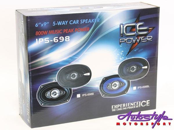 Ice Power IPS-698 800w 5 Way 6x9 Speakers-29999