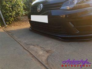 VW Golf 7 GTI & R Front Spoiler Gloss Black-29921