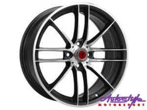 "17"" Lenso SC06 4/100 BKMF Alloy Wheels-0"