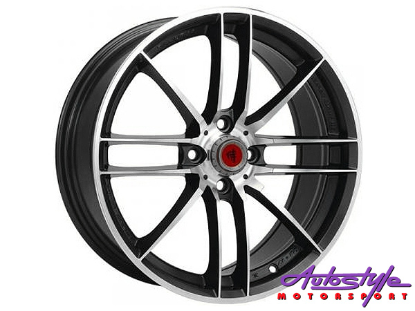 "17"" Lenso SC06 4/100 BKMF Alloy Wheels-0"