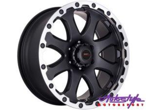 "20"" A-Line Echo 6/139 Matt Black Alloy wheels-0"