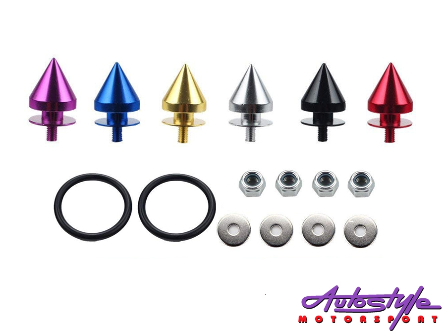 Universal Aluminum JDM Quick Release Fasteners For Bumpers (black)-30318