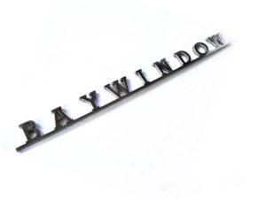 VW Baywindow Script Stainless Steel Badge-0