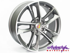 "18"" R-Line JH1329 5/112 Matt Grey Alloy Wheels-0"