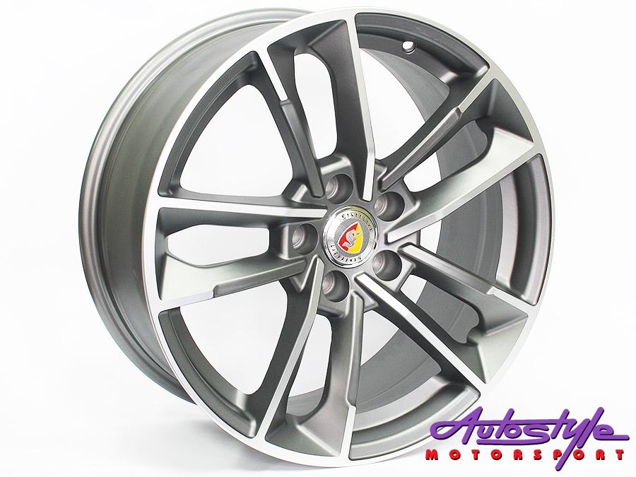 18″ R-Line JH1329 5/112 Matt Grey Alloy Wheels