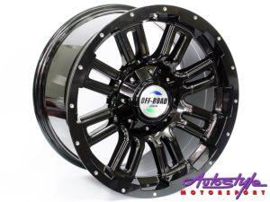 """17"""" SM 5006 6/139 BLK/SR Alloy Wheels-0"""