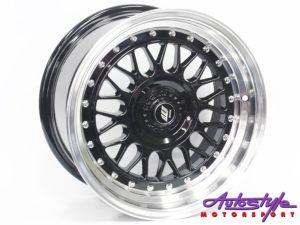 """15"""" Axe Blaze-A 4/100 & 4/108 BKM Alloy Wheels-0"""