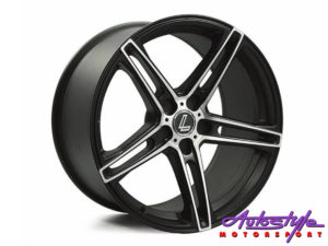 "18"" Lenso CQ6 5/120 BKMF Alloy wheels-0"