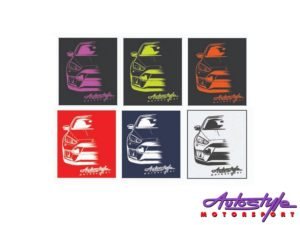 VW Golf Mk1 Silhouette Design Tshirt – Large Adult size (asst colours)-30143