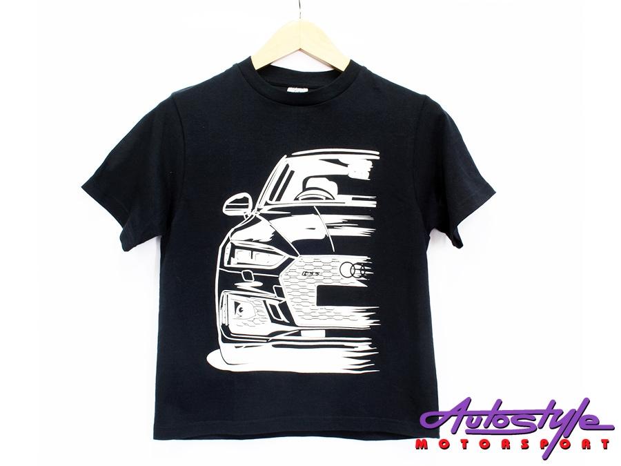 Audi Silhouette Design Tshirt - Large  Adult (asst colours)