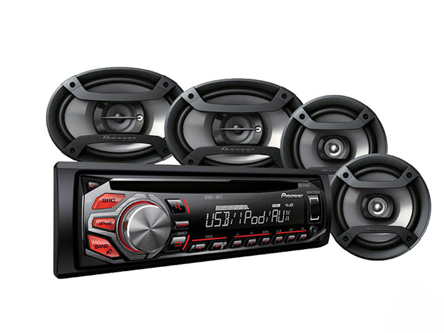Pioneer DXT-S1169UB Mp3 Cd Front Loader with 6×9″ & 6″ Speaker combo