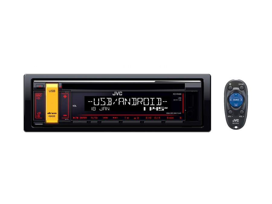 JVC KD-R496 Mp3 Cd Front Loader with USB/Aux