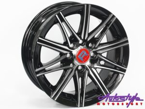 "14"" QS Retro 4/100 & 4/108 BKMF Alloy Wheels-0"