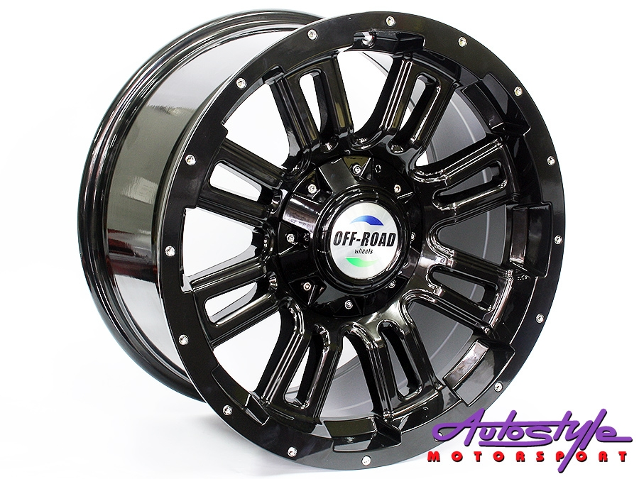 "17"" SM 5006 6/139 BLK/SR Alloy Wheels-0"