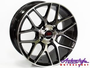 "15"" GR 7133 4/100 BKMF Alloy Wheels-0"