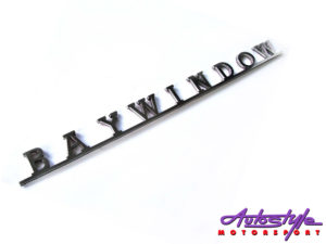 VW Baywindow Script Stainless Steel Badge-0