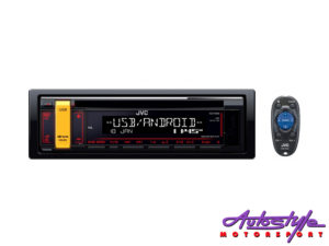 JVC KD-R496 Mp3 Cd Front Loader with USB/Aux-0