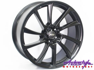 "19"" A8T 5/112 Matt Black Alloy Wheels-0"