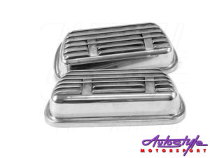 VW Classic Rocker Cover Set Aluminium Clip-On -0