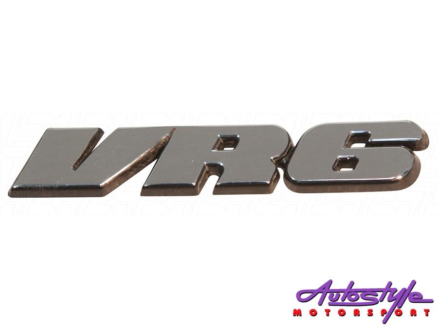VR6 Brushed Silver Sticker Badge-0
