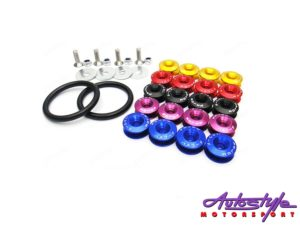 Universal Aluminum JDM Quick Release Fasteners For Bumpers (black)-0