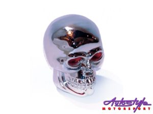 Chrome Skull Gear Knob -0