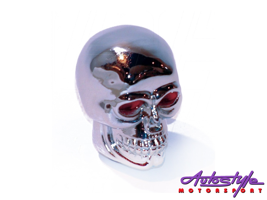 Chrome Skull Gear Knob -0