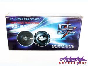"""ICE Power IPS-1630 6"""" 600w 3way Speakers-30334"""
