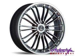 """17"""" Lenso OP3 4/100 BKMF Alloy Wheels-0"""