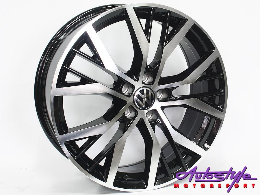 19″ QS Santiago 5/112 BKMF Alloy Wheels