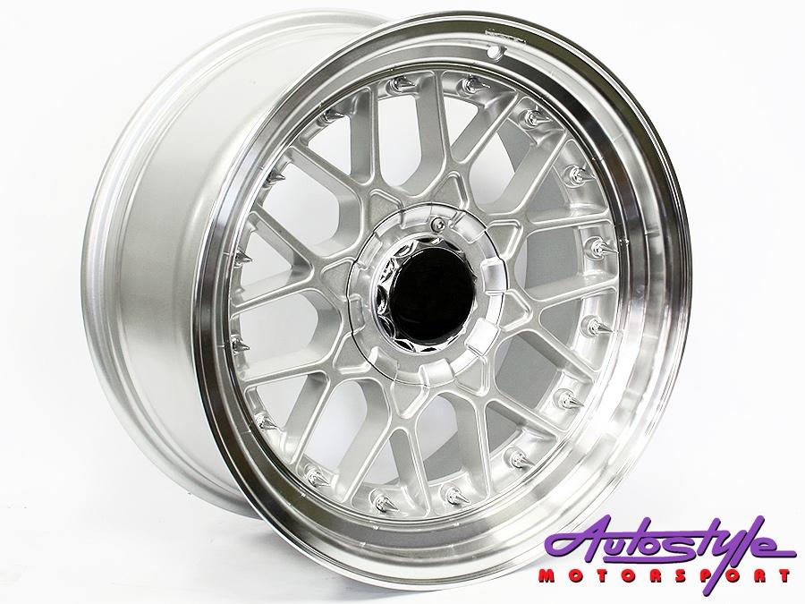 """17"""" BSS 4/100 & 4/108 Silver Narrow & Wide Wheels-0"""