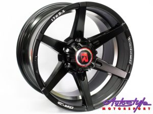 "17"" GR 089 MT 6/139 Black & Silver Alloy Wheels-0"