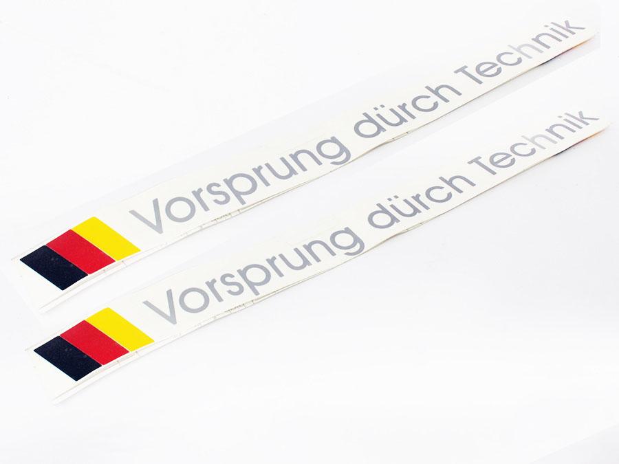 Vorsprung Durch Technik 420mm vinyl Sticker Set