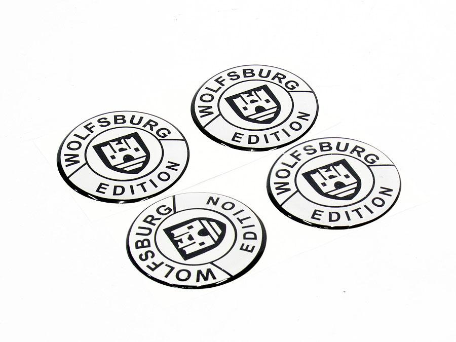 Wolfsburg 45mm Black & Silver Wheel Decal sticker