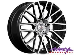 "17"" A-Line Khloe 4/100 BKMF Alloy Wheels-0"