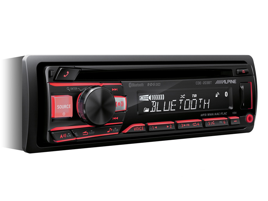 Alpine CDE-203BT Mp3 Cd Receiver with Bluetooth