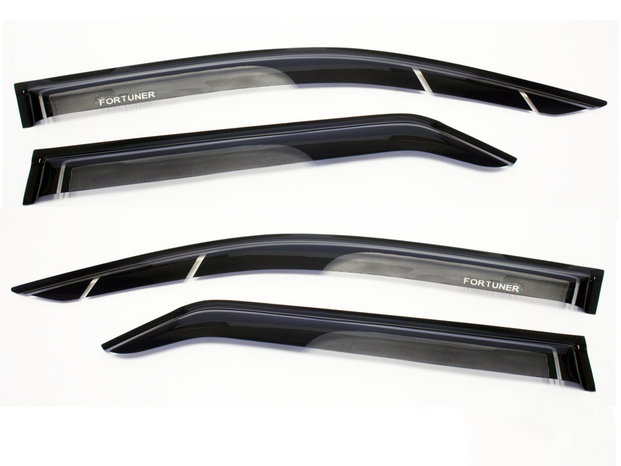 Carbon & Black Windshields for Toyota Fortuner 2016+ (front/rear)