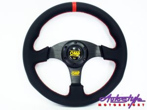 OMP Red Stitch Sport Steering-0